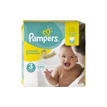 29 Couches Pampers Premium Protection taille 3 sur Sos Couches