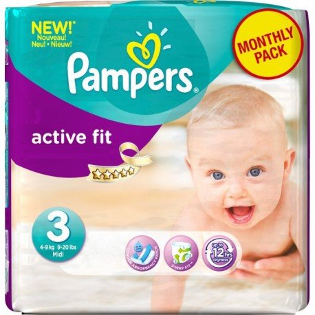 120 Couches Pampers Active Fit 3 sur Sos Couches