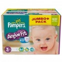 111 Couches Pampers Active Fit taille 3 sur Sos Couches