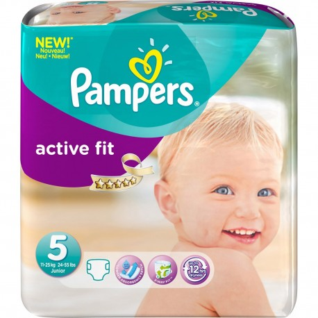 Achat 23 couches pampers active fit taille 5 bas prix sur sos couches - Prix couche pampers allemagne ...