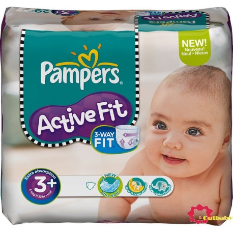 70 Couches Pampers Active Fit 3+ sur Sos Couches