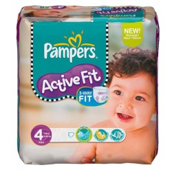 54 Couches Pampers Active Fit 4
