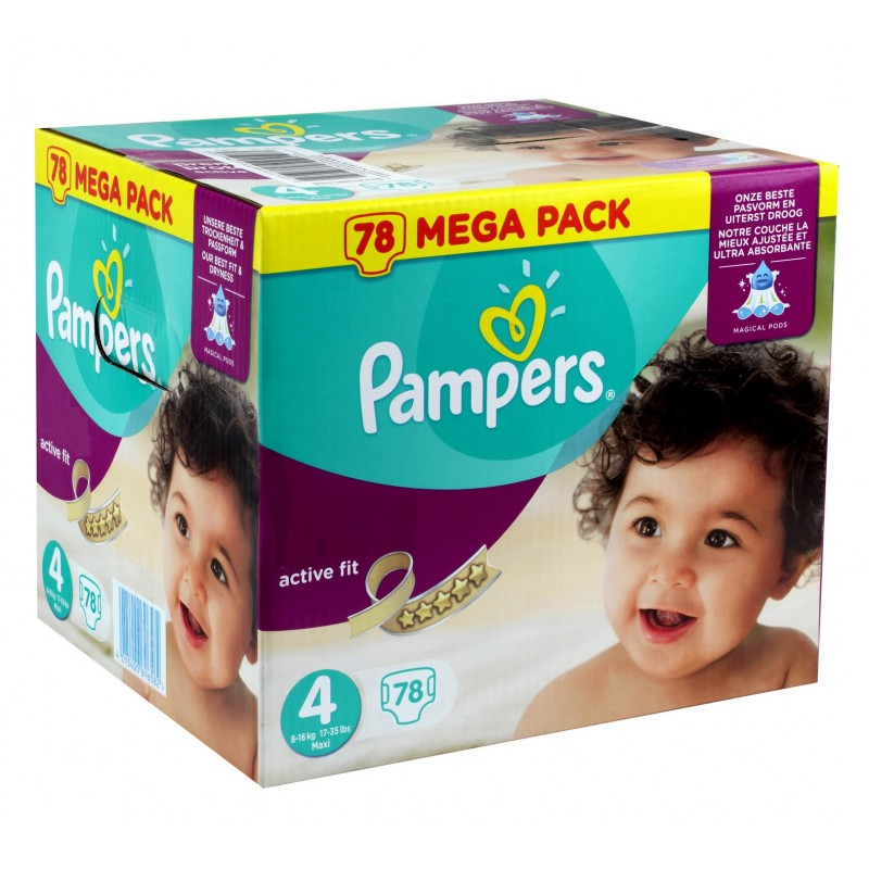 Achat 78 couches pampers active fit taille 4 petit prix sur sos couches - Prix couche pampers allemagne ...