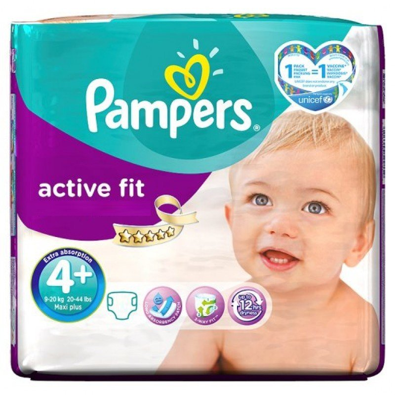 Achat 50 Couches Pampers Active Fit Taille 4 Pas Cher Sur Sos Couches