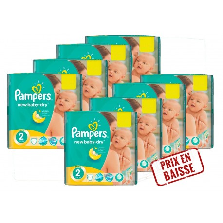 408 Couches Pampers New Baby Dry taille 2 sur Sos Couches