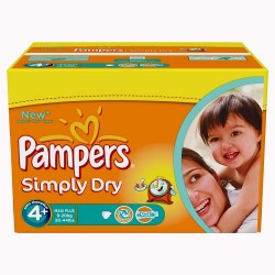 528 Couches Pampers Simply Dry taille 4+
