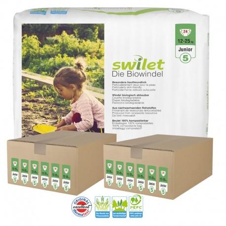 164 Couches bio écologiques Swilet Premium Care taille 5 sur Sos Couches