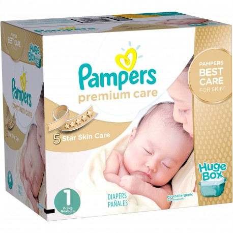 164 Couches Pampers Premium Care taille 1 sur Sos Couches
