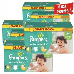 792 Couches Pampers Active Baby Dry taille 4