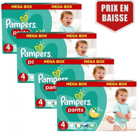 470 Couches Pampers Baby Dry Pants taille 4 sur Sos Couches