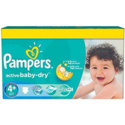 112 Couches Pampers Active Baby Dry taille 4+