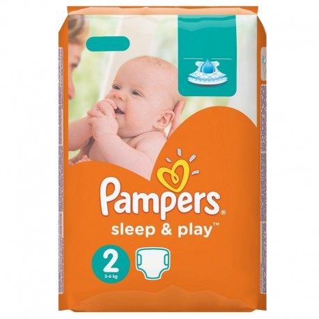 68 Couches Pampers Sleep & Play taille 2 sur Sos Couches