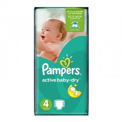 49 Couches Pampers Active Baby Dry taille 4