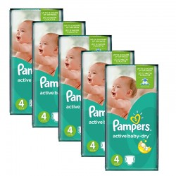 294 Couches Pampers Active Baby Dry taille 4