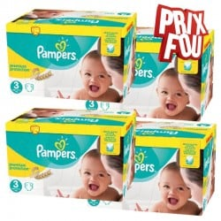 650 Couches Pampers Premium Protection - New Baby taille 3