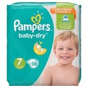 28 Couches Pampers Baby Dry taille 7 sur Sos Couches