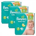 84 Couches Pampers Baby Dry taille 7 sur Sos Couches