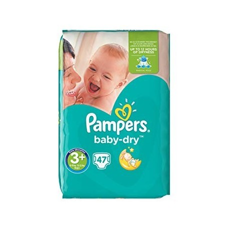 47 Couches Pampers Baby Dry taille 3+ sur Sos Couches