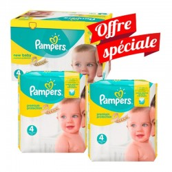312 Couches Pampers New Baby - Premium Protection taille 4