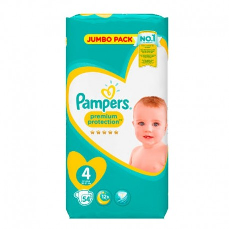 54 Couches Pampers New Baby - Premium Protection taille 4 sur Sos Couches