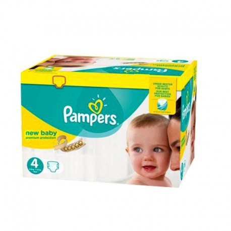 64 Couches Pampers New Baby - Premium Protection taille 4 sur Sos Couches