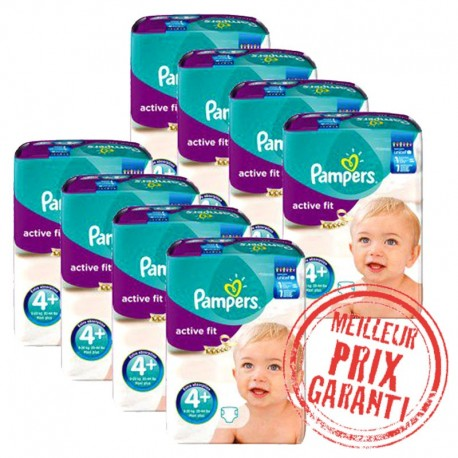 620 Couches Pampers Active Fit taille 4+ sur Sos Couches