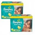 175 Couches Pampers Baby Dry taille 5+ sur Sos Couches