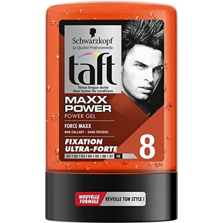 Taft Gel 300 ml Maxx Power N°8 sur Sos Couches
