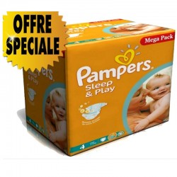 432 Couches Pampers Sleep & Play taille 4