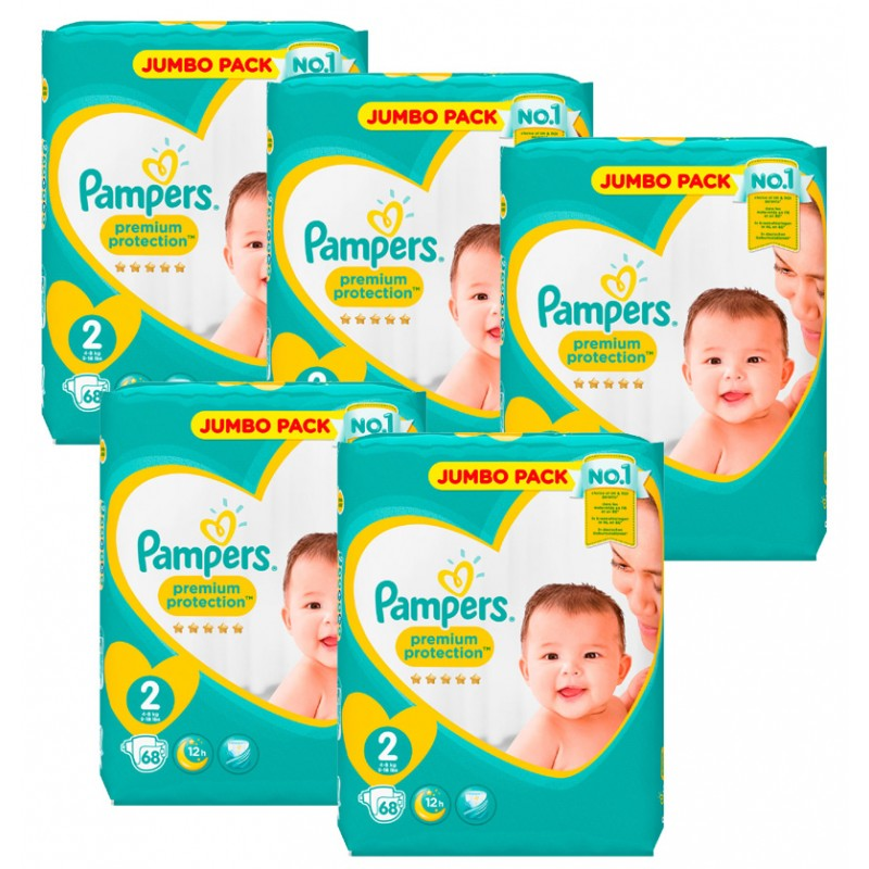 Achat 340 couches pampers new baby taille 2 en solde sur sos couches - Couches pampers new baby taille 3 ...