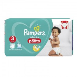 80 Couches Pampers Baby Dry Pants taille 3