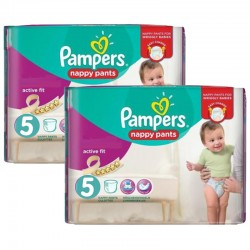 180 Couches Pampers Active Fit - Pants taille 5