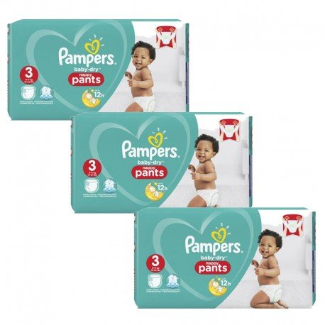 240 Couches Pampers Baby Dry Pants taille 3 sur Sos Couches