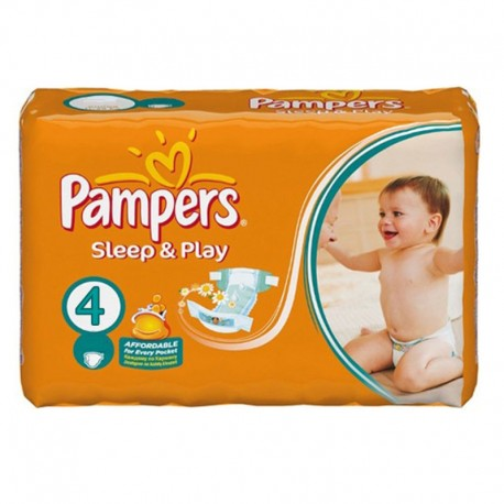 36 Couches Pampers Sleep & Play taille 4 sur Sos Couches