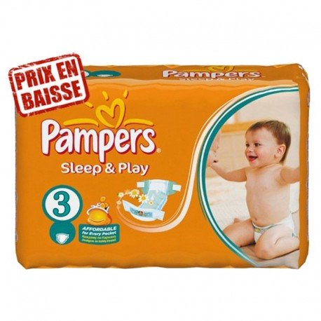 82 Couches Pampers Sleep & Play taille 3 sur Sos Couches