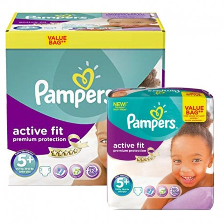 288 Couches Pampers Active Fit - Premium Protection taille 5+ sur Sos Couches