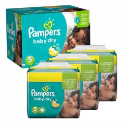 288 Couches Pampers Baby Dry taille 5