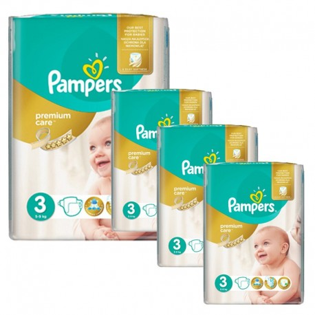 240 Couches Pampers Premium Care - Prima taille 3 sur Sos Couches