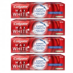 4 Dentifrices Colgate Max White Expert Complete Mild Mint
