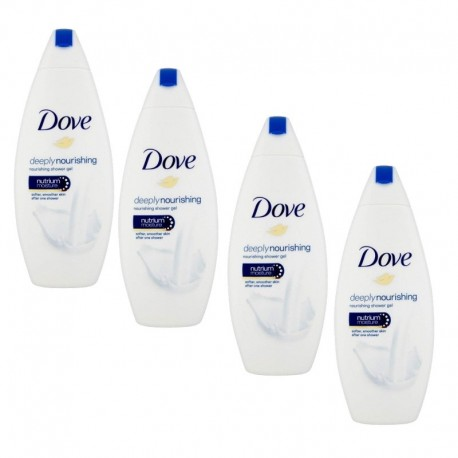 Lot de 4 Gels Dove Douche 250 ml Deeply Nourishing sur Sos Couches