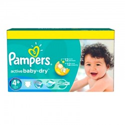 96 Couches Pampers Active Baby Dry taille 4+