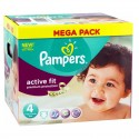 168 Couches Pampers Active Fit - Premium Protection taille 4 sur Sos Couches