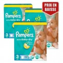 432 Couches Pampers Active Baby Dry taille 3 sur Sos Couches
