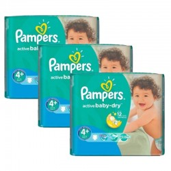 192 Couches Pampers Active Baby Dry taille 4+