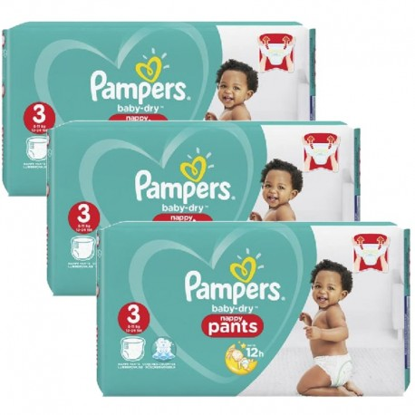 130 Couches Pampers Baby Dry Pants taille 3 sur Sos Couches