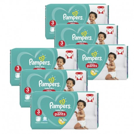 260 Couches Pampers Baby Dry Pants taille 3 sur Sos Couches