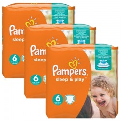 120 Couches Pampers Sleep & Play taille 6