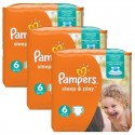 120 Couches Pampers Sleep & Play taille 6 sur Sos Couches