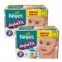 140 Couches Pampers Active Fit taille 3+ sur Sos Couches
