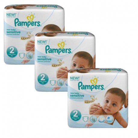 180 Couches Pampers New Baby Sensitive taille 2 sur Sos Couches